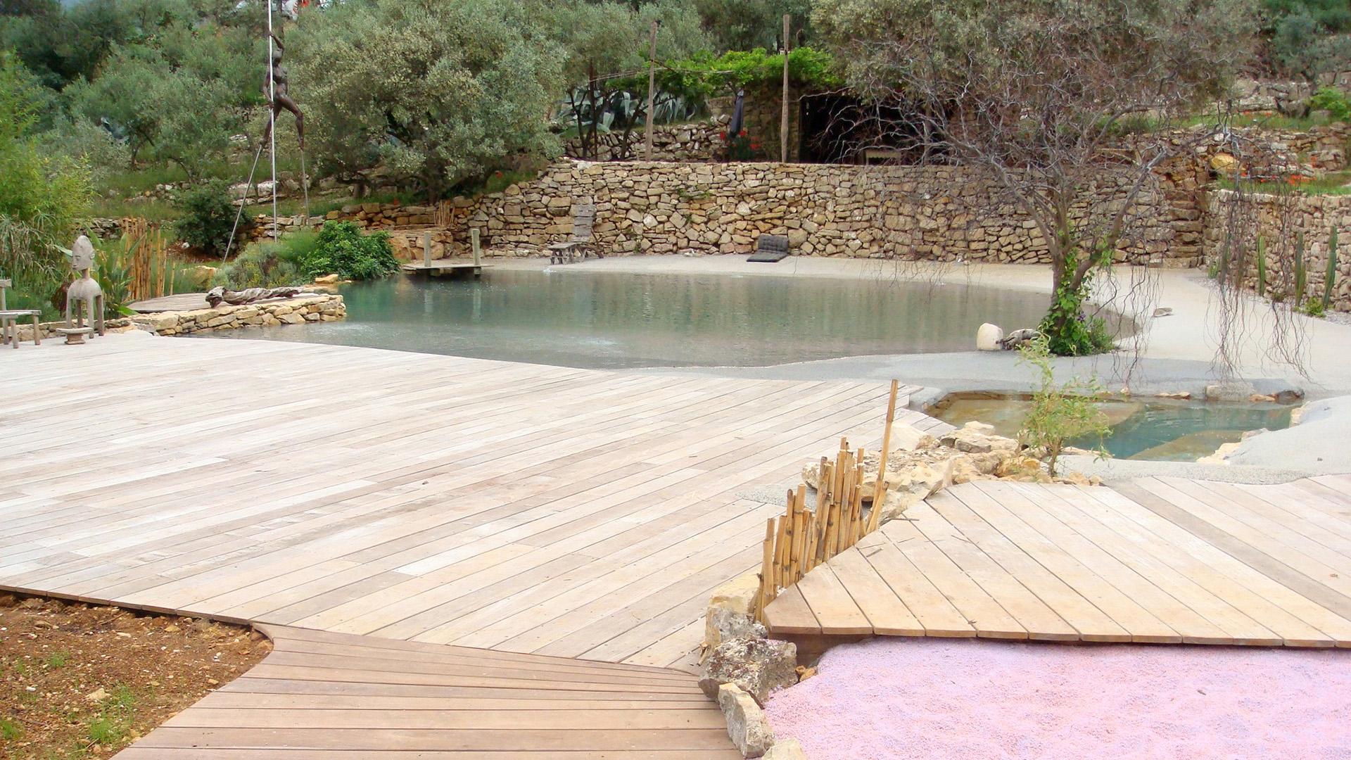 G rard gay design photos for Plan piscine naturelle